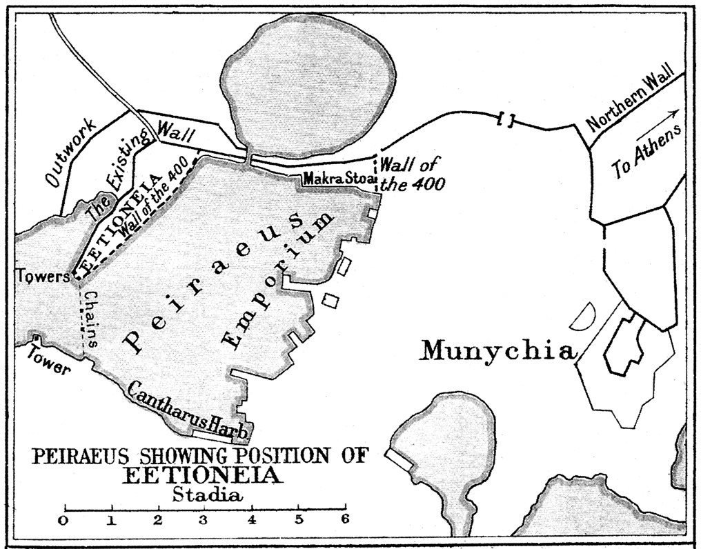 Map of Peiraeus showing position of Eetioneia