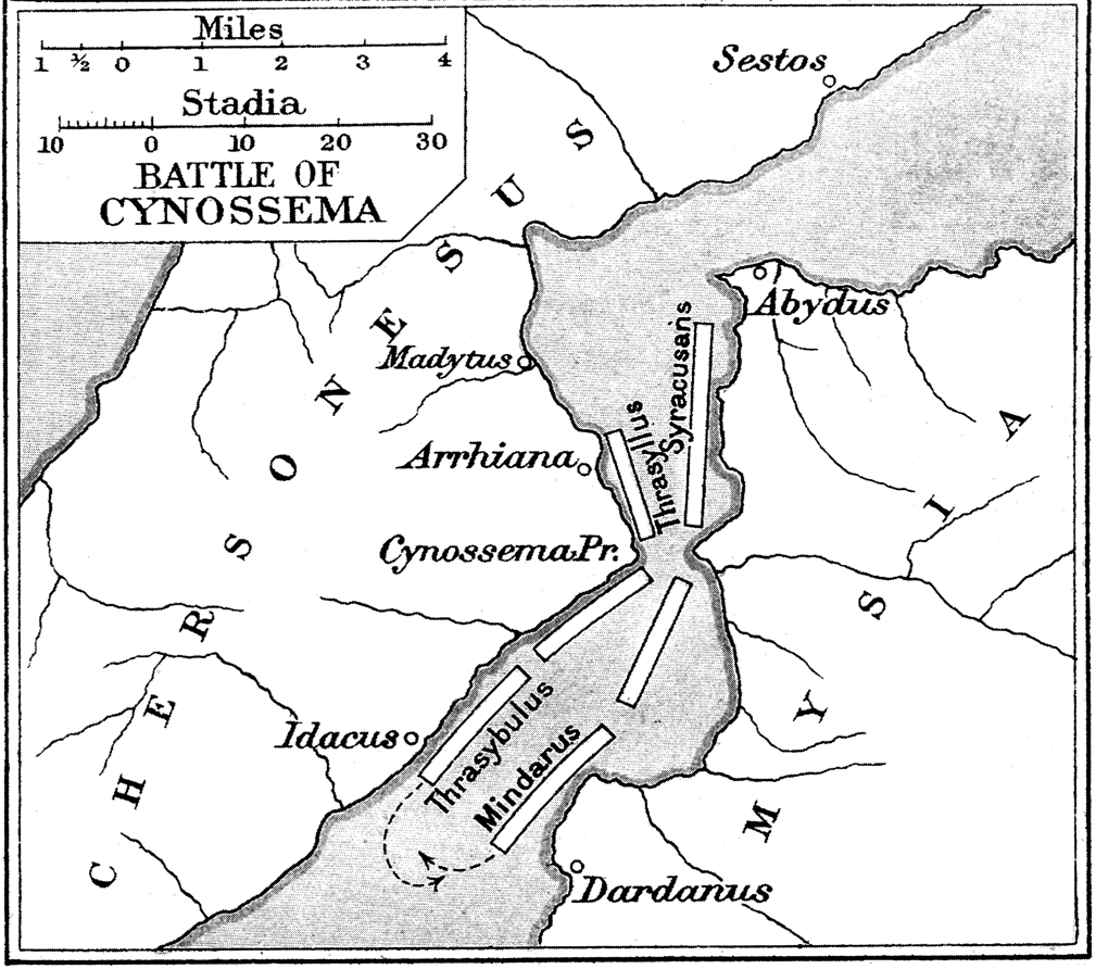 Mape of the Battle of Cynossema